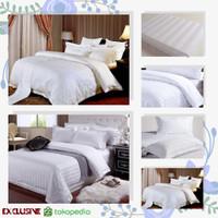 ORIGINAL! Bedcover Bad Cover Sprei Dobby Set Hotel Extra Luxury White