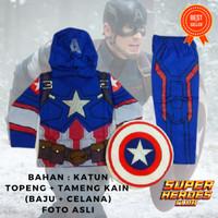 Baju Kostum Anak Superhero Captain America 3 Civil War