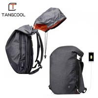 TAS BACKPACK HOODIE WATERPROOF LAPTOP TRAVEL with USB PORT TANGCOOL
