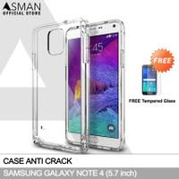Anti Crack Samsung Galaxy Note 4   Softcase Anti Bentur + FREE TG