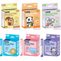 Kantong asi Gea Baby 120ml BLUE Plastik Breastmilk storage bags 30 pcs