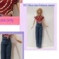 BARBIE - Casual - Baju Santai Aneka - Handmade - Set Blouse+Jean