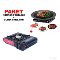PAKET KOMPOR PORTABLE BBQ ULTRA GRILL PAN
