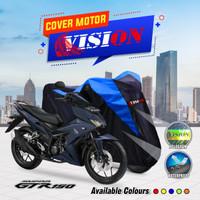 Sarung motor Supra GTR 150 cover penutup body motor waterproof vision - Biru