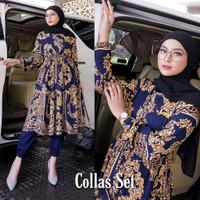 Collas Set Setelan Baju 2in1 Fashion Muslim Wanita Terlaris Pakaian Wa
