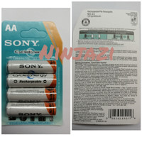 batre recharge sony AA isi 4 pc