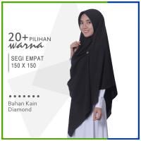 Jilbab Segi Empat 150 x 150 Diamond Pashmina Sabyan Jumbo Syari