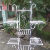 Rak pot hias motif tingkat 7 pot/Rak pot kembang/Rak pot bunga