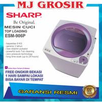 MESIN CUCI SHARP ESM 906 9KG 1 TABUNG ESM906 TOP LOADING 9 KG DOLPHIN