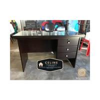 Meja Kantor 1/2 Biro Kayu Solid + Kaca