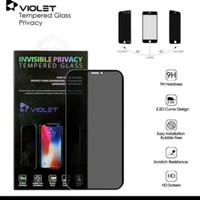 tempered glass violet privacy oppo F11 pro full black anti spy premium