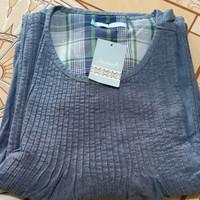 Baju gamis wanita mirip kain jeans