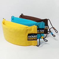 Masker Kain Premium Mount Island 3 Ply - Kuning
