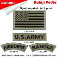 Patch bordir emblem bordir badge us army sepaket baru