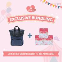 Bundling Josh Cooler Diaper Backpack + Kantong ASI