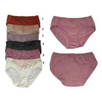 Panty Katun Rosebud lace available 6 colors