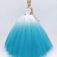 Baju boneka barbie warna cantik doll lace wedding dress import