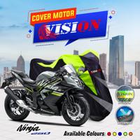 Sarung motor Ninja 250 cover penutup body motor waterproof vision - Merah