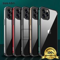 IPHONE 12 PRO MAX 6.7 SULADA ORIGINAL METAL FRAME HARD SOFT GLASS CASE