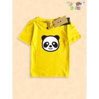 Kaos Baju anak Kids Panda black and white
