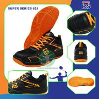 RS SUPER SERIES 621 HITAM ORANGE SEPATU BADMINTON ORIGINAL