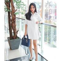 Ameline Shirt Dress Kemeja Dress Pakaian Wanita DS933-B