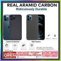 Case iPhone 12 Pro Max 12 Pro Mini REAL ARAMID CARBON (Bukan PITAKA)