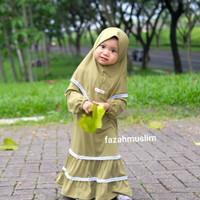 baju muslim pompom bayi. gamis bayi aqikoh set hijab