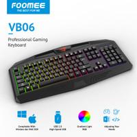 FOOMEE VB06 Colorful backlit USB game keyboard