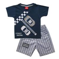 Baju Setelan Anak 1 2 3 Tahun Bayi Laki-laki Atasan Kaos dan Celana