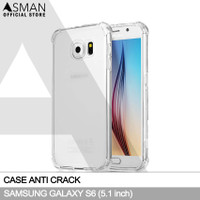 Anti Crack Samsung Galaxy S6 (5.1) | Softcase Anti Bentur - Clear