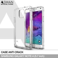 Anti Crack Samsung Galaxy Note 4 (5.7) | Softcase Anti Bentur - Clear