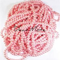 Mutiara Sintetis 6 mm Pink Muda isis +- 70 butir Bahan Aksesoris