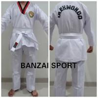 Baju Taekwondo Kerah Merah Dewasa S,ML,XL - S