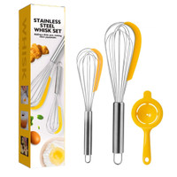 Stainless Steel Whisk set 1021 Whisk Spatula 3in1 Baking tool