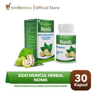 Sido Muncul Nonik 30 Kapsul Herbal -Mengkudu Meringankan Kencing Manis