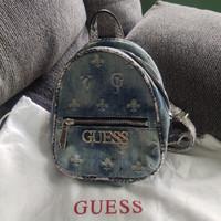 backpack ransel tas punggung denim Guess original