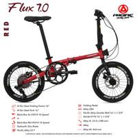 """Sepeda Lipat PACIFIC FLUX 7.0 16"""" REM HIDROLIK, 10 SPEED"""