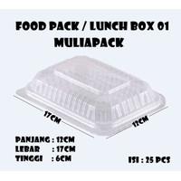 Food Pack Muliapack / Tempat Makanan / Lunch Box Muliapack 01 isi 25pc