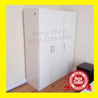 lemari pakaian 3 pintu free custom,ongkir & pasang Jabodetabek