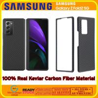 Real Aramid Carbon Slim Thin Cover Case Samsung Galaxy Z Fold 2 5G