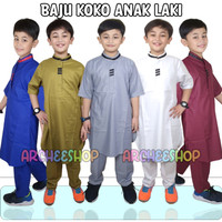 setelan baju koko anak laki laki muslim gamis cowok 1-14 tahun ARCHI
