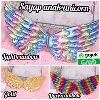 sayap anak unicorn disney angels bidadari wings colorful balet