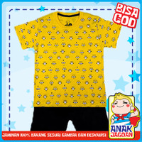 Baju anak laki2/ Setelan anak laki-laki motif minion fullprint 1-10 th
