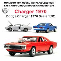 Diecast miniauto 1/32 Dom Dodge charger r/t fast furious mainan anak