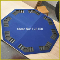 Poker Table Top 120cm Blue tabletop, MDF Material, four fold