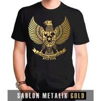 Kaos Baju Combed 30S Distro EMAS burung GARUDA polos custom indonesia