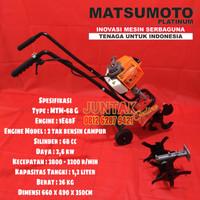 Mesin Bajak Tanah Matsumoto Mini Tiller MTM 68G