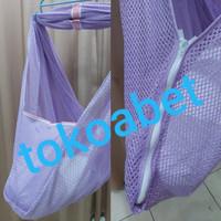 Kain Ayunan Bayi Zipper Ukuran XL/Jumbo Merk POLAR #tokoabet - Ungu