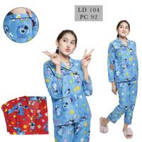 piyama / STELAN BAJU TIDUR / Baju tidur PP/CP/HP/DASTER motif STITCH